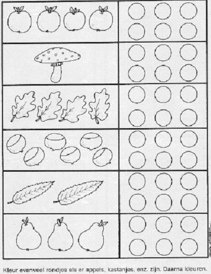 Cijfers Kleurplaat Klein 1 Juf Naomi Print Herfst